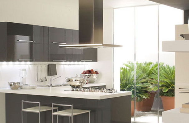 Cucina componibile con penisola veneta cucine - Penisola veneta cucine ...