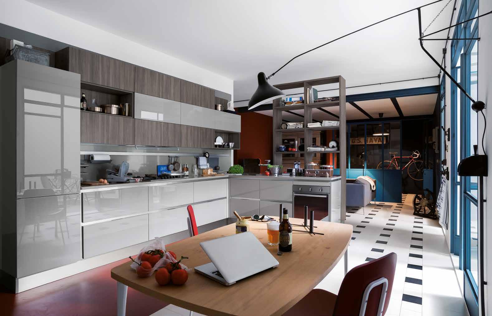 Cod.1753 Composizione Carrera Go Veneta Cucine #3F647D 1579 1015 Rivenditori Cucine Veneta