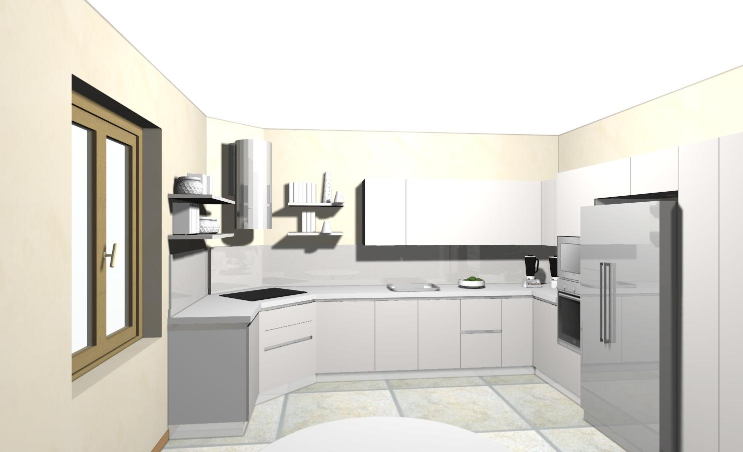 Progetto cucina con isola centrale - Progetto cucina angolare ...