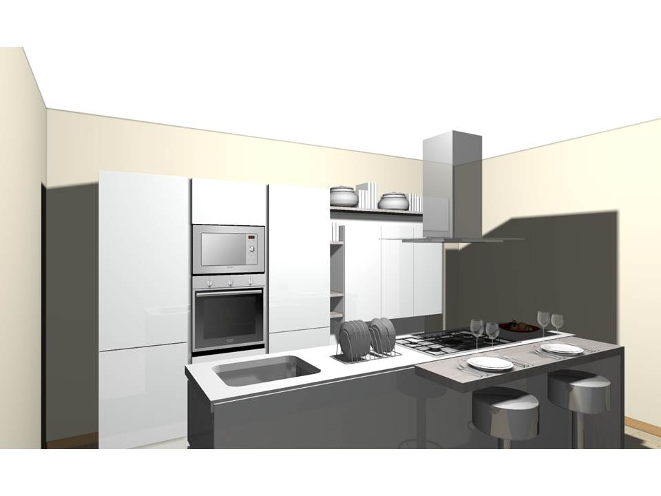 Progetto cucina con isola centrale - Cucina con penisola centrale ...